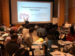 Dr. L. Michelle Bennett of NIH speaking on Convergence and Team Science